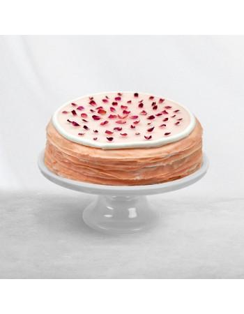 Rose Mille Crêpe Cake
