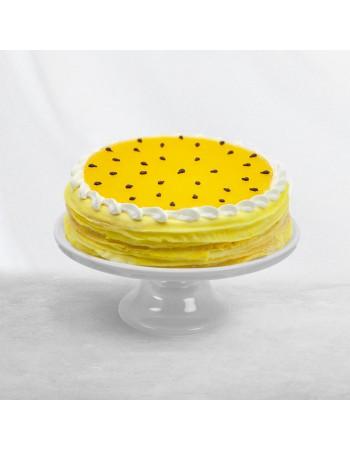 Passionfruit Mango Crêpe Cake